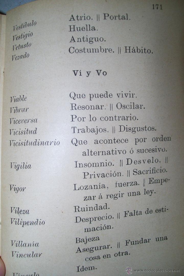 Diccionarios antiguos: DICCIONARIO FRASEOLÓGICO TOMÁS VILLAR Y SOTO TOLEDO RAFAEL G. MENOR 1901 FIRMADO - Foto 11 - 38890056