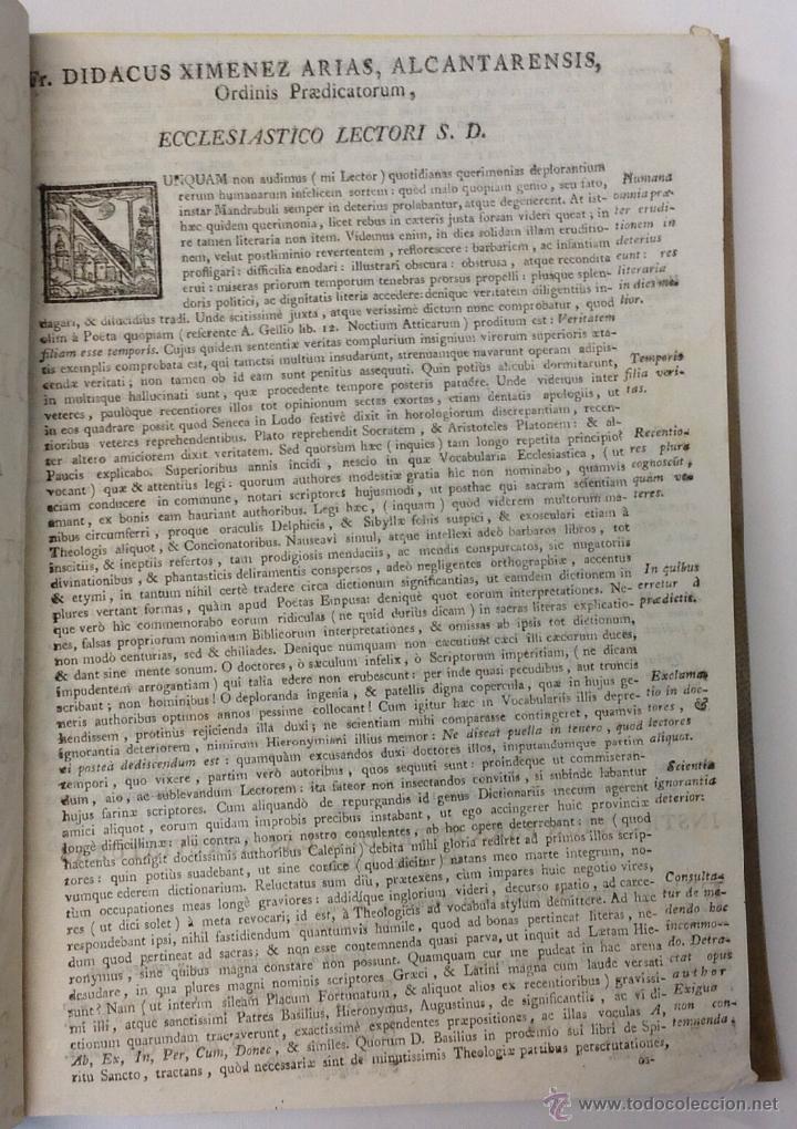 Diccionarios antiguos: LEXICON ECCLESIASTICUM LATINO-HISPANICUM, EX SACRIS BIBLIIS... 1792. - Foto 3 - 43991312