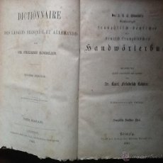 Diccionarios antiguos: DICCIONARIO FRANCÉS-ALEMÁN DE 1881 POR FRIEDRICH KOHLER. Lote 44003968