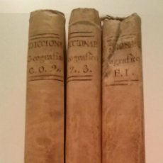 Diccionarios antiguos: DICCIONARIO GEOGRAFICO UNIVERSAL - 4ª. EDICION - D. ANTONIO MONTPALAU - MADRID MDCCLXXXIII (1783). Lote 44066011