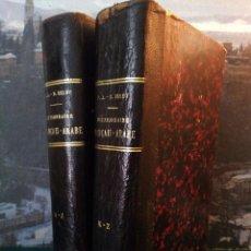 Diccionarios antiguos: DICTIONNAIRE FRANÇAIS - ARABE. P. BELOT. OBRA COMPLETA EN 2 VOL. AÑO 1928. DICCIONARIO FRANCÉS-ÁRABE. Lote 44140444