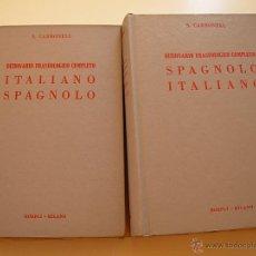 Diccionarios antiguos: DICCIONARIO FRASEOLÓGICO ITALIANO ESPAÑOL Y ESPAÑOL ITALIANO, CON 80.000 VOCABLOS Y EXPRESIONES.. Lote 44182345