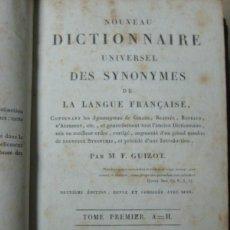 Diccionarios antiguos: 1822 - DICCIONARIO SINONIMOS FRANCES - DICTIONNAIRE SYNONYMES - 496 PAGS.. Lote 45267932