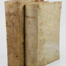 Diccionarios antiguos: GRADUS AD PARNASSUM, SIVE BIBLIOTHECA MUSARUM. MATRITI 1741. DICCIONARIO 2 TOMOS. 14X20 CM.. Lote 45355629
