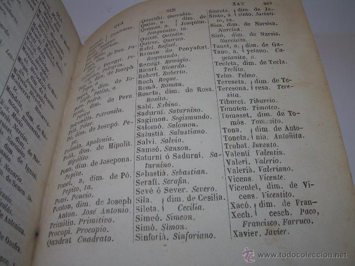Diccionarios antiguos: DICCIONARIO.....CATALAN - CASTELLANO.....TAPAS PIEL ....AÑO..1.859 - Foto 9 - 46458554