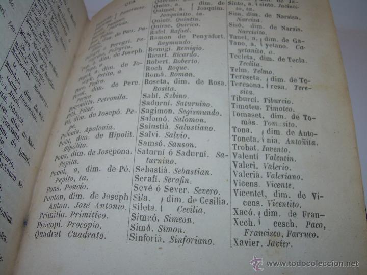 Diccionarios antiguos: DICCIONARIO.....CATALAN - CASTELLANO.....TAPAS PIEL ....AÑO..1.859 - Foto 10 - 46458554