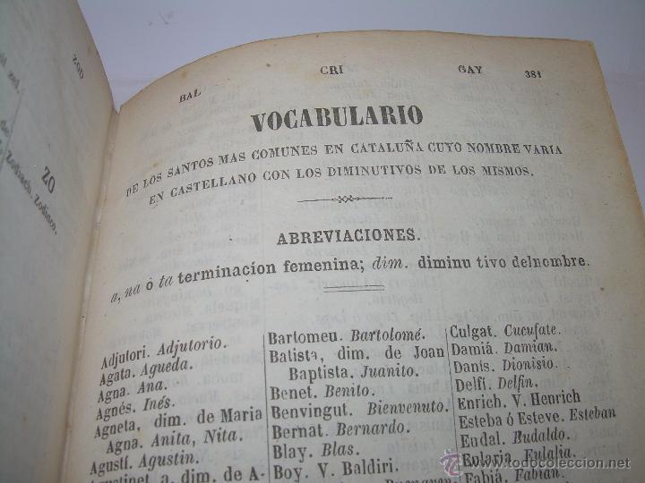 Diccionarios antiguos: DICCIONARIO.....CATALAN - CASTELLANO.....TAPAS PIEL ....AÑO..1.859 - Foto 11 - 46458554