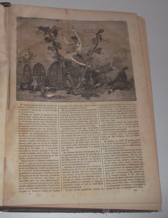 Diccionarios antiguos: D. NICOLÁS Mª SERRANO. Diccionario Universal de la Lengua Castellana. Tomo XIII. V-W-X-Y-Z. RM67634. - Foto 3 - 222970473