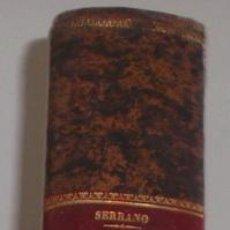 Diccionarios antiguos: D. N. Mª SERRANO. DICCIONARIO UNIVERSAL DE LA LENGUA CASTELLANA. TOMO XIV. APÉNDICE. A-E. RM67635.. Lote 47021511