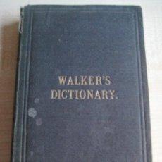 Diccionarios antiguos: WALKER´S PRONOUNCING DICTIONARY BY AUSTIN NUTTALL 1857. Lote 47253515