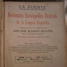 Diccionarios antiguos: LA FUENTE DICCIONARIO ENCICLOPEDICO ILUSTRADO DE RAMON SOPENA DE 1936. Lote 48199353