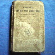 Diccionarios antiguos: DICCIONARIO DES HUIT MILLE VERBES USUELS 1884 8ª EDICION BESCHERELLE EN FRACES PAUL DUPONT EDITOR. Lote 48286991
