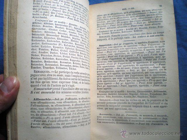 Diccionarios antiguos: DICCIONARIO DES HUIT MILLE VERBES USUELS 1884 8ª EDICION BESCHERELLE EN FRACES PAUL DUPONT EDITOR - Foto 5 - 48286991