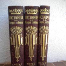 Diccionarios antiguos: DICCIONARI DE LA LLENGUA CATALANA, EDICIO IL.LUSTRADA SALVAT EDITORS 3 VOLUMS.. Lote 48311443