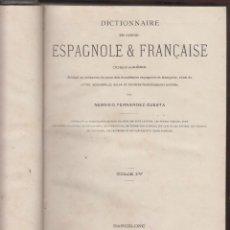 Diccionarios antiguos: DICTIONNAIRE DES LANGUES ESPAGNOLE & FRANCAISE-F. CUESTA-TOMO 4 DE LA H A LA Z-1887-BARCELONA-LD14. Lote 48550446
