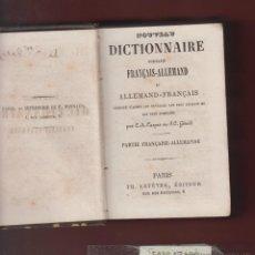 Diccionarios antiguos: NUEVO DICCIONARIO FRANCES-ALEMAN, ALEMAN-FRANCES - C. A. CASPAR-660 PAGINAS-AÑO 1902 APROX.-LD16A. Lote 48768597
