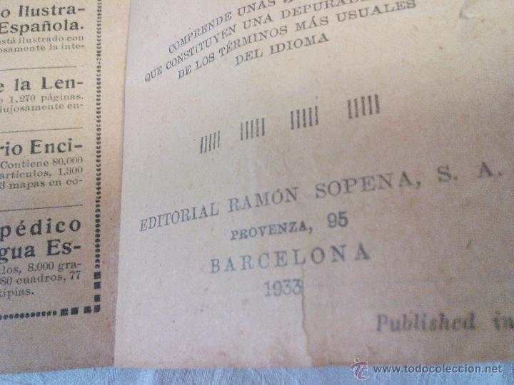 Diccionarios antiguos: DICCIONARIO iter DE LA LENGUA ESPAÑOLA 1933.ditorial ramon sopena s.l. barcelona - Foto 3 - 49030951