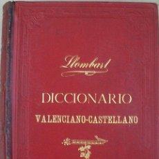 Diccionarios antiguos: DICCIONARIO VALENCIANO-CASTELLANO, D.JOSE ESCRIG Y MARTINEZ - CONSTANTINO LLOMBART. Lote 50127771