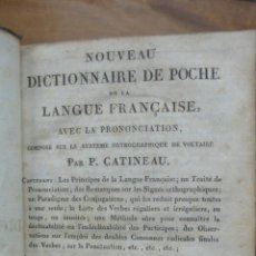 Diccionarios antiguos: NOUVEAU DICTIONNAIRE DE POCHE DE LA LANGUE FRANÇAISE. 1817.. Lote 50532193