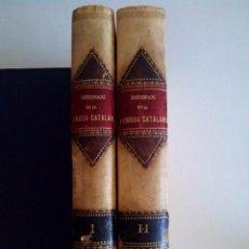 Diccionarios antiguos: 1880 PERGAMINO DICCIONARI DE LA LLENGUA CATALANA, PERE LABERNIA 32 CMS. Lote 50605238