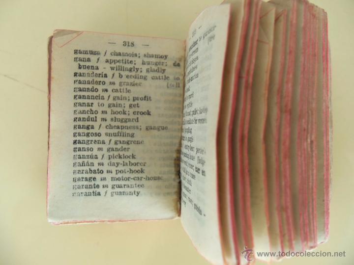 Diccionarios antiguos: ESPAÑOL - INGLES - AGEJAS - 12000 PALABRAS - DICCIONARIO LILIPUTIENSE - Foto 4 - 50618771