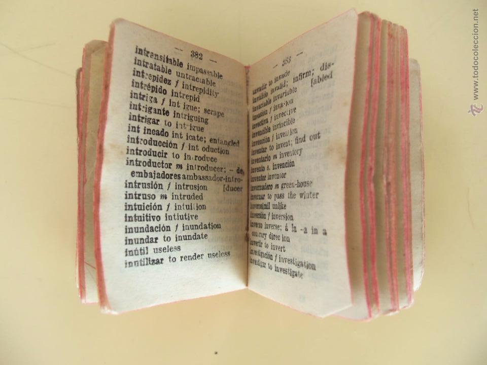 Diccionarios antiguos: ESPAÑOL - INGLES - AGEJAS - 12000 PALABRAS - DICCIONARIO LILIPUTIENSE - Foto 5 - 50618771
