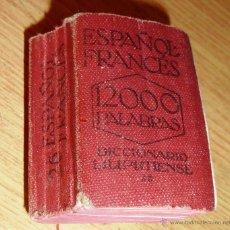 Diccionarios antiguos: DICCIONARIO LILIPUTIENSE ESPAÑOL FRANCÉS 12000 PALABRAS .LEIPZIG 5 / 3 / 2CM Nº 26 . Lote 51003020