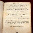 Diccionarios antiguos: THESAURUS HISPANO-LATINO, DE VALERIANO REQUEJO, DICCIONARIO ESPAÑOL- LATIN. SIGLO XVIII. Lote 51260345