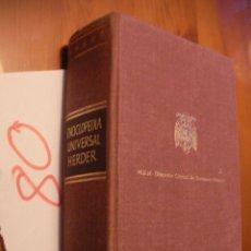 Diccionarios antiguos: ANTIGUO VOLUMEN ENCICLOPEDIA UNIVERSAL HERDER AÑOS 50. Lote 51710280