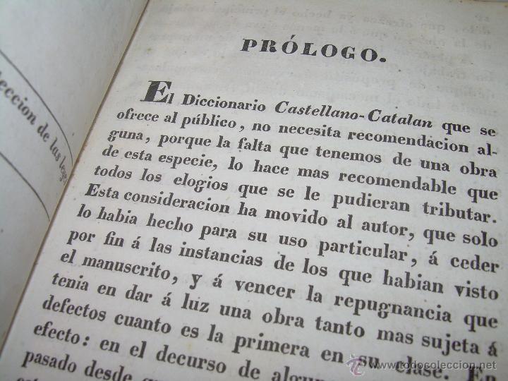 Diccionarios antiguos: ANTIGUO LIBRO TAPAS DE PIEL....DICCIONARIO CASTELLANO - CATALAN.....AÑO.1.836. - Foto 6 - 51741370