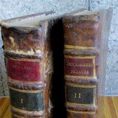Diccionarios antiguos: 2 TOMOS - DICCIONARIO NUEVO DE LAS LENGUAS ESPAÑOLAS Y FRANCESAS - POR FRANCISCO SOBRINO 1734. Lote 52124821