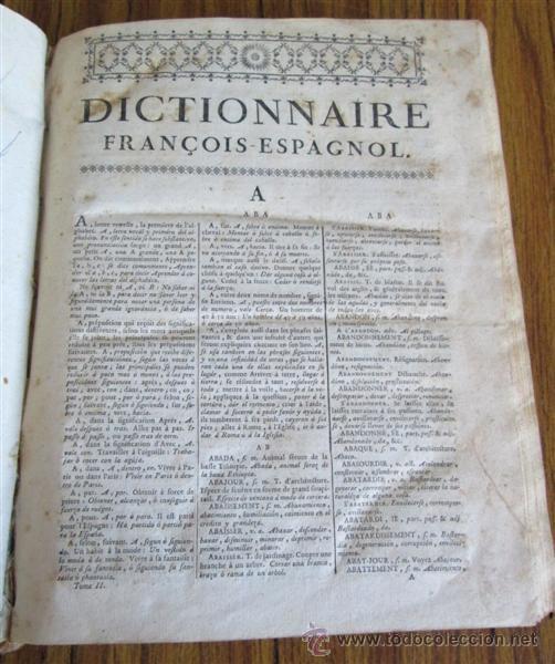 Diccionarios antiguos: 2 tomos - Diccionario nuevo de las lenguas españolas y francesas - Por Francisco Sobrino 1734 - Foto 9 - 52124821