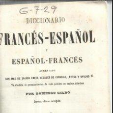 Diccionarios antiguos: DICCIONARIO FRANCÉS-ESPAÑOL. TOMO I. LIBRERIA DE ROSA Y BOURET. PARÍS. . Lote 52978901