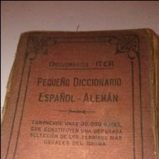 Diccionarios antiguos: PEQUEÑO DICCIONARIO ESPAÑOL-ALEMAN. Lote 53503469