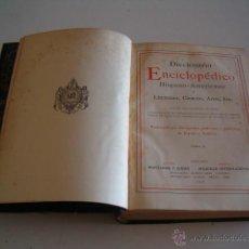 Diccionarios antiguos: DICCIONARIO ENCICLOPÉDICO HISPANO-AMERICANO. RM72985. . Lote 54172104