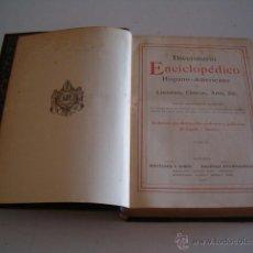 Diccionarios antiguos: DICCIONARIO ENCICLOPÉDICO HISPANO-AMERICANO. RM72987. . Lote 54172189