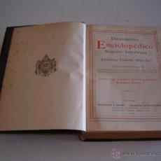 Diccionarios antiguos: DICCIONARIO ENCICLOPÉDICO HISPANO-AMERICANO. RM72991. . Lote 54172405