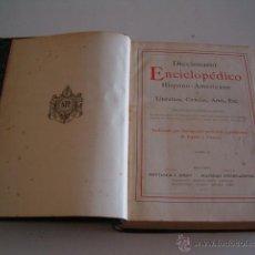Diccionarios antiguos: DICCIONARIO ENCICLOPÉDICO HISPANO-AMERICANO. RM72992. . Lote 54172981