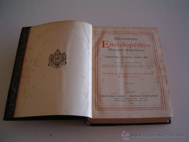 DICCIONARIO ENCICLOPÉDICO HISPANO-AMERICANO. RM73002. (Libros Antiguos, Raros y Curiosos - Diccionarios)
