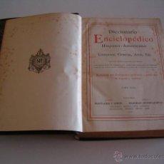 Diccionarios antiguos: DICCIONARIO ENCICLOPÉDICO HISPANO-AMERICANO. RM73006. . Lote 54173629