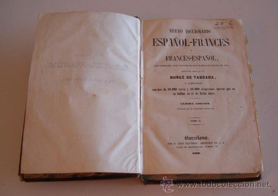 Diccionarios antiguos: NUÑEZ DE TABOADA. Nuevo Diccionario Español-Francés y Francés-Español. Tomo II. RM73298. - Foto 2 - 54541858