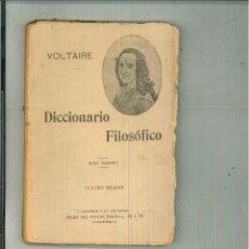 Diccionarios antiguos: DICCIONARIO FILOSÓFICO. VOLTAIRE. Lote 124538358