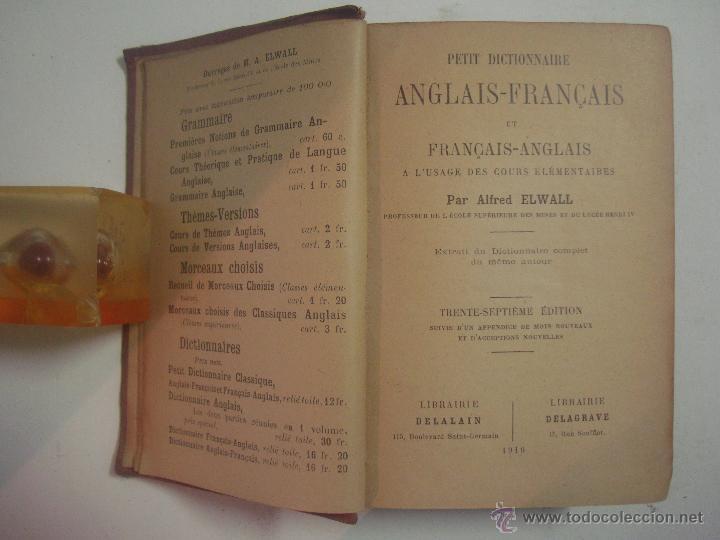 PETIT DICTIONNAIRE ANGLAIS-FRANÇAIS ET FRANÇAIS - ANGLAIS. 1919. (Libros Antiguos, Raros y Curiosos - Diccionarios)
