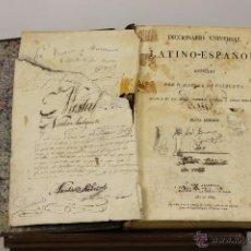 Diccionarios antiguos: 7207 - DICCIONARIO UNIVERSAL LATINO-ESPAÑOL. 6ª EDI. M. VALBUENA. IMP. REAL. 1829.. Lote 54250649
