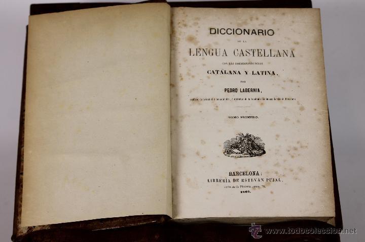 6171 - DICCIONARIO DE LA LENGUA CASTELLANA. PEDRO LABERNIA. LI. ESTEVAN PUJAL. 1867. (Libros Antiguos, Raros y Curiosos - Diccionarios)
