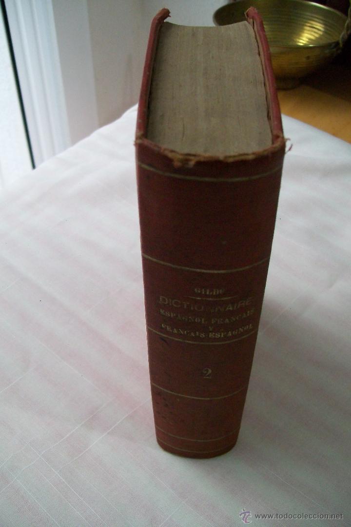 Diccionarios antiguos: DICTIONNAIRE ESPAGNOL-FRANÇAIS ET FRANÇAIS-ESPAGNOL PAR D.GILDO PARIS 1867 2 TOMOS - Foto 2 - 54817332