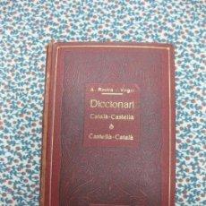 Diccionarios antiguos: DICCIONARI CATALA-CASTELLA. CASTELLA-CATALA. A. ROVIRA I VIRGILI. DICCIONARIS LOPEZ 1914.. Lote 55103284