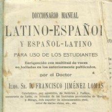 Diccionarios antiguos: DICCIONARIO LATINO-ESPAÑOL. FRANCISCO JIMÉNEZ LOMAS. 7ª ED. EDITORIAL HERNANDO. MADRID. 1934. Lote 55331336