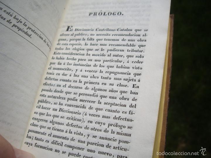 Diccionarios antiguos: Magin Ferrer y Pons: DICCIONARIO MANUAL CASTELLANO-CATALÁN, 2 tomos, Imp.Pablo Riera. Reus 1836 - Foto 7 - 56662273