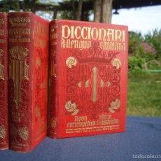 Diccionarios antiguos: DICCIONARI DE LA LLENGUA CATALANA SALVAT, O.C. 3 VOLS. 1910 ?. Lote 56663867